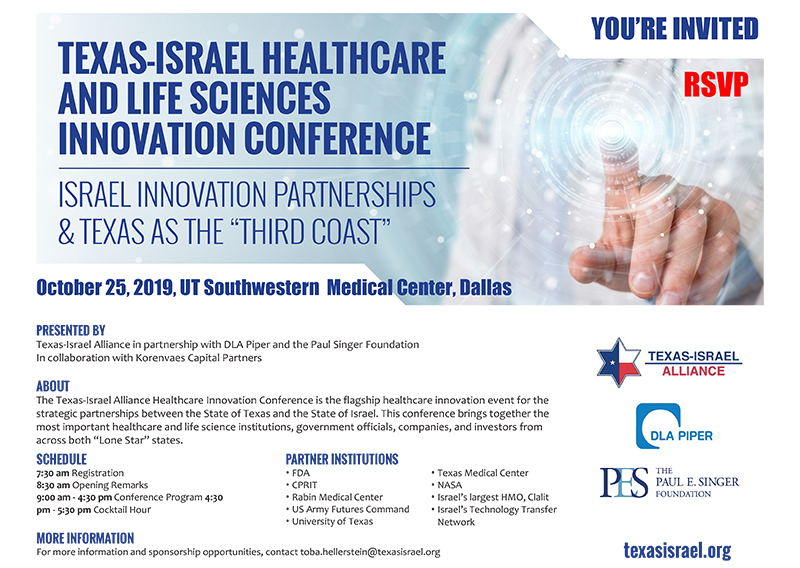 Register for Texas Israel Alliance Healthcare & Life Sciences Innovation Conference